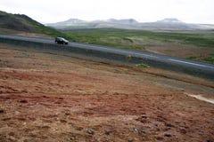 Weg in IJsland Royalty-vrije Stock Afbeeldingen