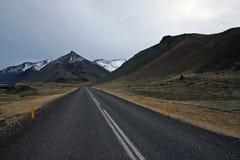 Weg in IJsland royalty-vrije stock foto