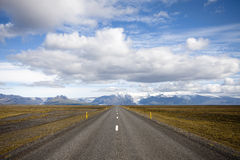 Weg in IJsland Royalty-vrije Stock Afbeelding