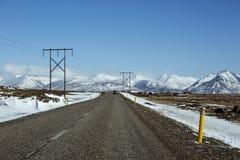Weg in IJsland Royalty-vrije Stock Foto's
