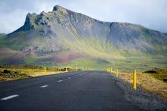 A1 weg in IJsland stock fotografie
