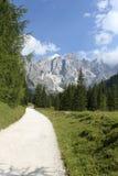 Weg im Dolomit stockfotografie