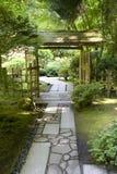 Weg im japanischen Garten Lizenzfreies Stockbild