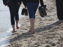 Weg im Sand Stockbild