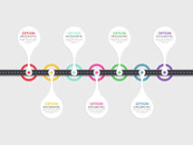 Weg infographic malplaatje met een gefaseerde structuur Royalty-vrije Stock Fotografie