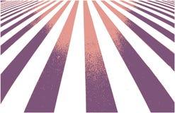 Weg kruising, gestreepte achtergrond in perspectief met licht en schaduw vector illustratie