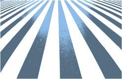 Weg kruising, gestreepte achtergrond in perspectief met licht en schaduw stock illustratie