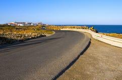 Weg langs de kust royalty-vrije stock fotografie