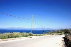 Weg langs de kust Stock Foto's