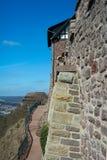 Weg langs Wartburg-de muur van het kasteel Royalty-vrije Stock Foto's