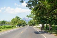 Weg in Leon, Nicaragua Royalty-vrije Stock Afbeelding
