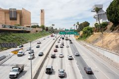 Weg 101 in Los Angeles Royalty-vrije Stock Foto
