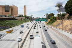 Weg 101 in Los Angeles Royalty-vrije Stock Fotografie