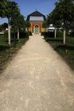 Weg met Pavillon stock foto