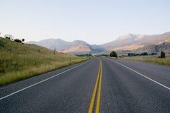 Weg in Montana Royalty-vrije Stock Afbeelding