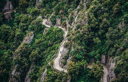 Weg in Montserrat Stockfotos