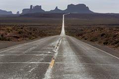 Weg 163, Monumentenvallei, Utah Stock Foto's