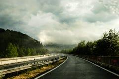 Weg na Regen stock fotografie