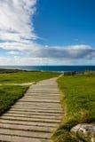 Weg naar het strand in Fanore, Co clare Royalty-vrije Stock Foto