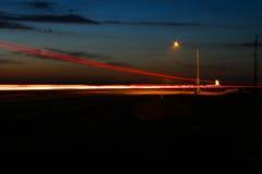 Weg 99 Nacht Stock Afbeeldingen