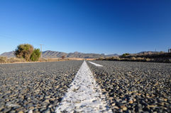 Weg 62 nahe Oudtshoorn - Südafrika stockbild