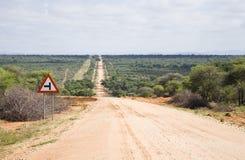 Weg in Namibië Royalty-vrije Stock Foto's