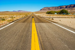 Weg in Nevada, de V.S. Royalty-vrije Stock Afbeelding
