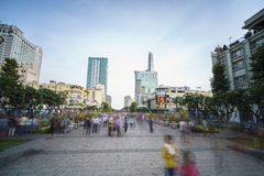 Weg Nguyen Hue Street, Ho Chi Minh City, Vietnam Lizenzfreies Stockfoto