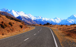 Weg in Nieuw Zeeland Stock Foto's