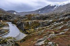 Weg in Noorwegen Royalty-vrije Stock Afbeeldingen