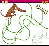Weg- oder Labyrinthkarikaturspiel Stockfoto