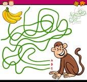 Weg- oder Labyrinthkarikaturspiel Lizenzfreies Stockbild