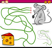 Weg- oder Labyrinthkarikaturspiel Lizenzfreie Stockbilder