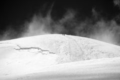 Weg om III bij de piek van Lenin te kamperen De bergen van Pamir Royalty-vrije Stock Afbeelding