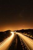 Weg onder de sterren Stock Afbeelding