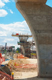 Weg onder wederopbouw Stock Foto's