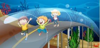 Weg onderwater stock illustratie