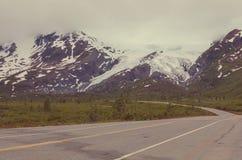 Weg op Alaska Royalty-vrije Stock Foto's