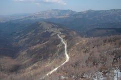 Weg op berg Stock Foto