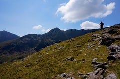 Weg op berg Ierland stock fotografie