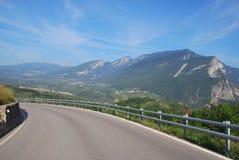 Weg op de berg Stock Afbeelding