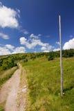 Weg op de heuvel stock foto