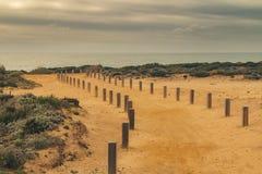 Weg op de klippen van Kaap Sardão stock afbeelding