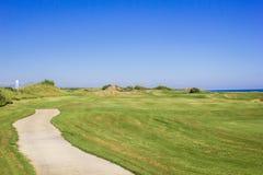 Weg op golfcursus Royalty-vrije Stock Afbeeldingen