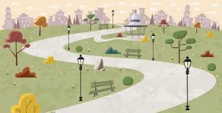 Weg op groen park Royalty-vrije Stock Afbeeldingen