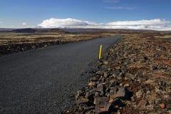 Weg op IJsland Royalty-vrije Stock Foto's