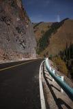 Weg over de berg Royalty-vrije Stock Foto