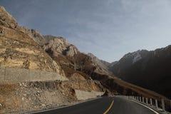 Weg over de berg Royalty-vrije Stock Afbeelding