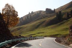 Weg over de berg Royalty-vrije Stock Fotografie