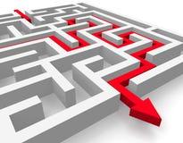 Weg over labyrint Royalty-vrije Stock Afbeelding